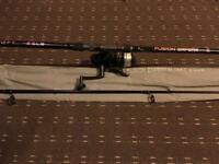 Fusion Expert carp rod 2.5lb test curve used few times ever & big shakespear pro-am reel