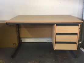 Office desk with three drawers