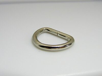 1 inch  D Ring Nickel Plated Welded Pack of 2