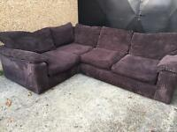 Fabric L shape corner sofa •free delivery •