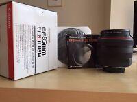 Canon EF 85mm F/1.2 II EF USM L Lens