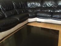 Leather L shape sofa for sale