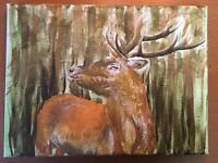 Original stag painting