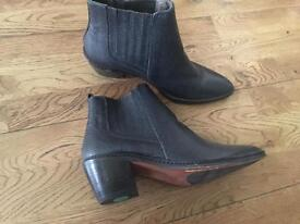 Ankle boots leather great condition designer shoes