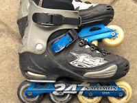 "Salomon FSK Inline Aluminium Skates (""Rollerblades""), UK size 8.5"