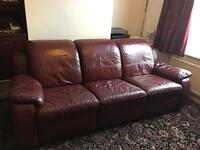 Free Maroon Leather Sofa