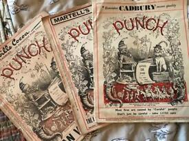 3 Copies of Punch magazine