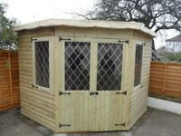 CORNER SUMMER HOUSE/SHED, FREE FITTING, OTHER SIZES AVAILABLE