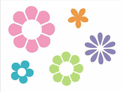 Floral Stencil Flower Power Hippie Love Peace Girl Decor Art Shape Garden signs (Flower Power Decorations)