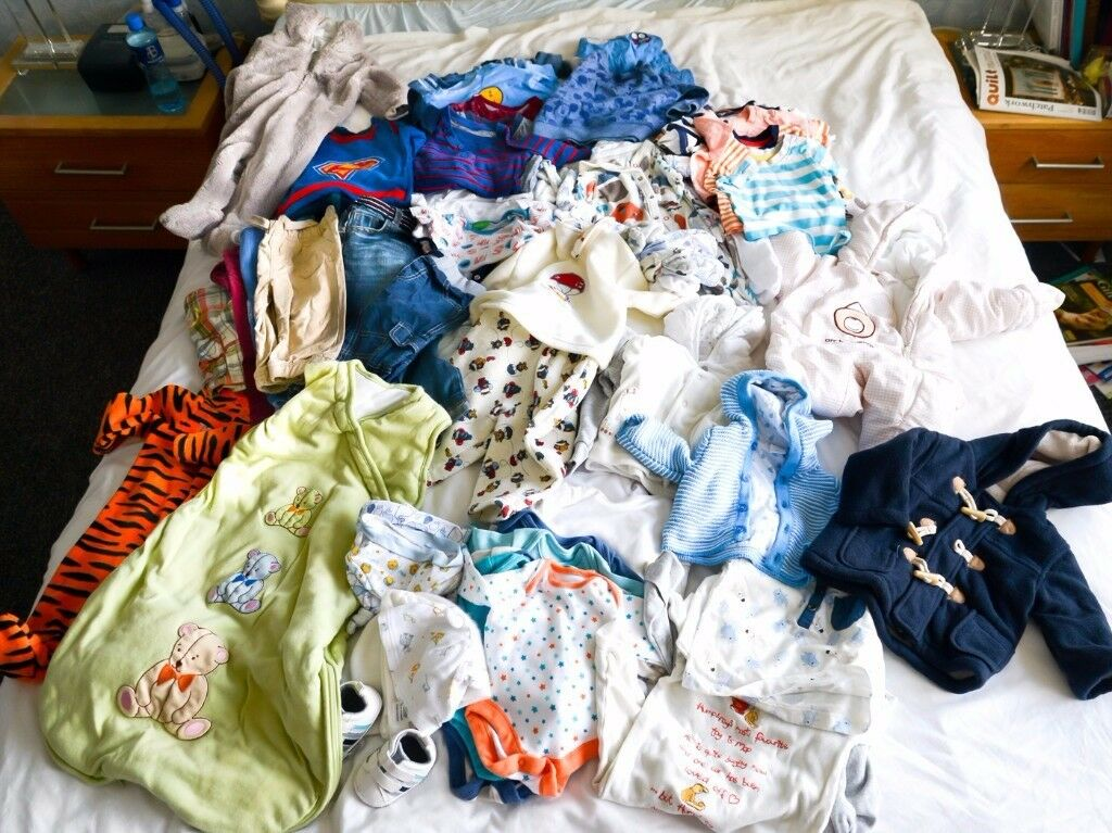 Big bundle of baby boy clothes 0-9 months