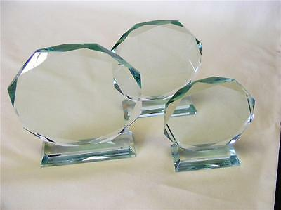 Personalised JADE CRYSTAL Glass AWARD OCTAGONAL SPORT,