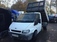 Ford transit twin wheel tipper 2005 54 good truck
