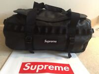 Supreme x North Face Duffel Bag Backpack Brand New - Black