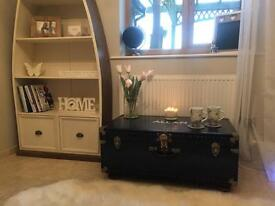 Vintage trunk coffee table