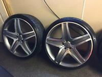 """22"""" alloys & continental tyres for Audi Mercedes"""