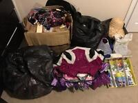Fancy dress job lot - 67 Costumes +100s of accessories included