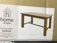 Sandwell dining table and 6 matching chairs