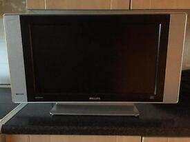 "Philips 23"" widescreen tv monitor and freeview box"