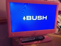Pink Bush 19'' LCD TV/DVD combi with freeview