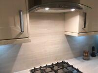 Light Grey Splashback 3000mm x 1070mm - £50 ono