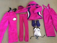 Girls ski wear bundle for age 9-10 used once/new.