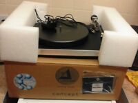Clearaudio Concept Turntable with Ortofon 2m Black excellent working condition