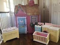 dream town rose petal cottage+ furniture
