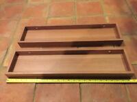 Shelves x2 - 60cm x 15cm x 4cm