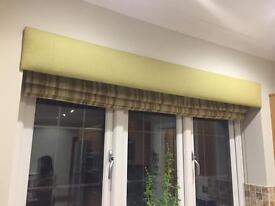 High quality roman blind blackout green stripe