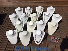 New Jewelry Bust / Jewelry Display Stands, £5 for 16 Busts, Bargain!