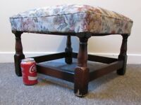 Large vintage stool footrest footstool seat 47x 47cms FREE DELIVERY