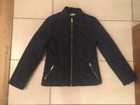 Smart H&M Navy quilted jacket age 9-11