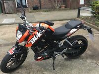 KTM DUKE 125CC 5Months old for sale £2800