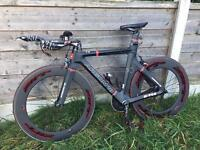 Argon 18 e112 carbon fibre tt bike / triathlon / track