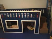 KIDS PLAYHOUSE BED, STEPS & MATTRESS!!