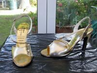 GOLD SHOES Size 6 UK or 39