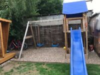 Climbing frame/swings and slide