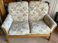 Ercol style 4ft two seater sofa