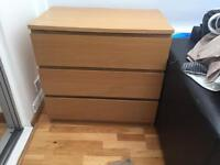 Malm IKEA chest of draws 3 draw BRAND NEW