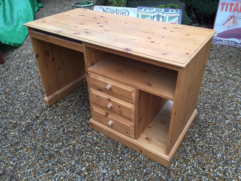 PINE DESKin Brighton, East SussexGumtree - Good condition, very well made! Very solid piece and is FREE DELIVERY
