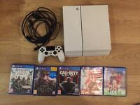 Ps4 console controller and 5 games