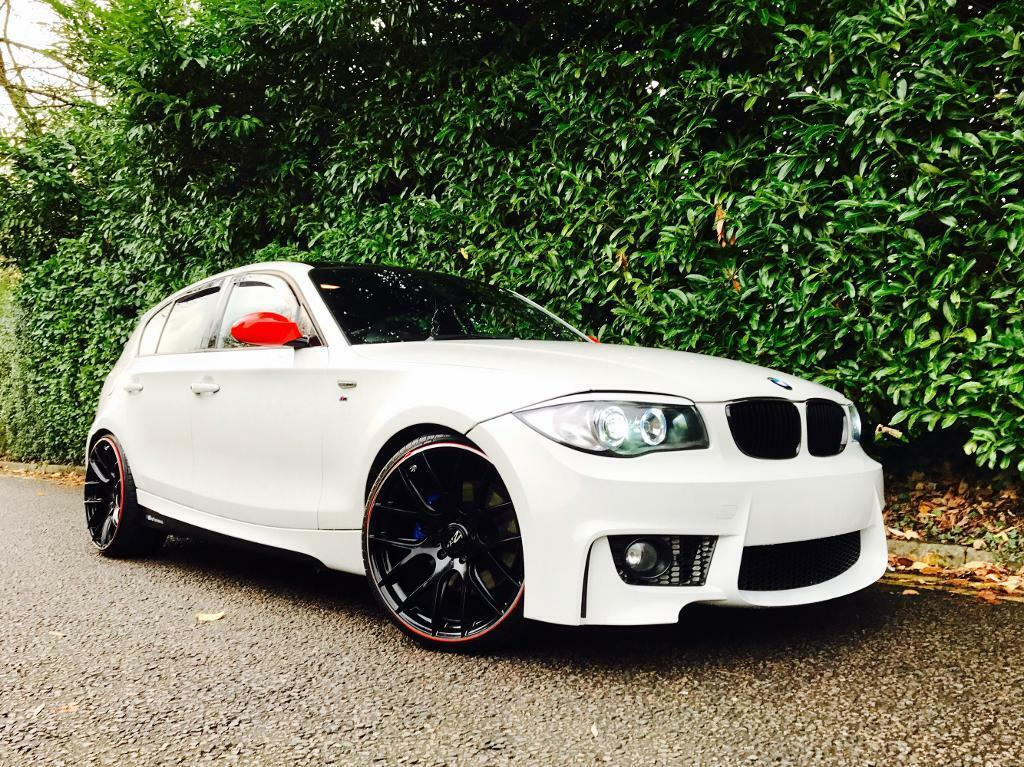 bmw 130i m sport sat nav 1m body kit white 1 series 130 petrol manual hatchback in watford. Black Bedroom Furniture Sets. Home Design Ideas