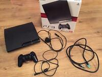 120GB PS3 PlayStation 3 Slim boxed with 13 games and 1 controller