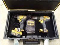 Dewalt DCK290M2 18V Cordless Combi Drill & Impact Driver Twin Pack With Battery & Charger
