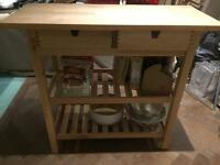Ikea butchers block kitchen trolley