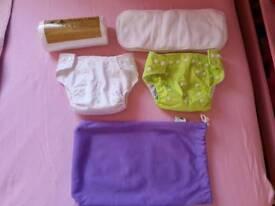 NEW 2 x washable littlelambs nappies