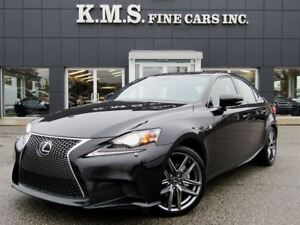 2015 Lexus IS 250 F-SPORT SERIES 3| AWD| NAV| CLEAN CARPROOF