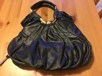 NICA black leather bag