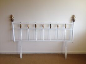 """VINTAGE SLUMBERLAND HEADBOARD Double Bed Size 4ft 6"""" Metal Shabby Chic Style"""