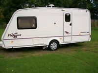 bailey monarch 2 berth 2004 fitted motor mover end shower/dressing room excellent van
